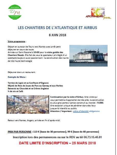Les Chantiers de l'Atlantique et Airbus le 8 juin